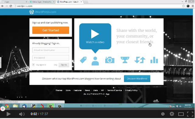 Video tutorial WordPress.com